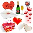 Royalty-Free Stock 矢量图片: Valentine's day vector set.