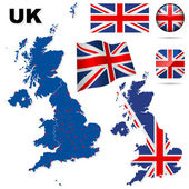 United Kingdom vector set. — Stock Vector
