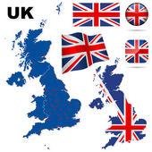 United Kingdom vector set. — Stock Vector