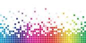 Kleurrijke regenboog vierkante mozaïek — Stockvector