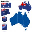 Australia vector set. — Stock Vector