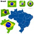 Brazil vector set. - Stock Vector