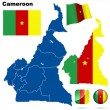 Cameroon vector set. — Stock Vector