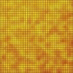 Yellow and orange mosaic — Stock Vector
