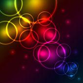 Arrière-plan bulles abstrait coloré — Vecteur
