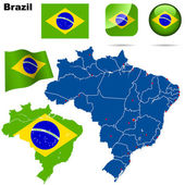 Brazil vector set. — Stock Vector