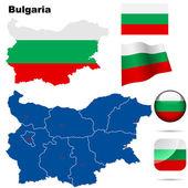 Bulgaria vector set. — Stock Vector
