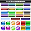 Web buttons vector collection — Imagen vectorial