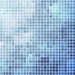 Blue and cyan square mosaic vector background. — Stock Vector