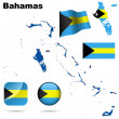 Royalty-Free Stock Vector Image: Bahamas vector set.