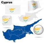 Постер, плакат: Cyprus vector set