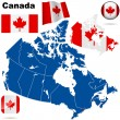 Royalty-Free Stock Vector Image: Canada vector set.