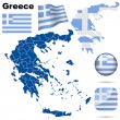 Greece vector set. — Stok Vektör
