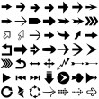 Vector set of arrow shapes isolated on white. — Vector de stock