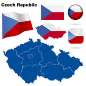 Czech Republic vector set. — Stock Vector