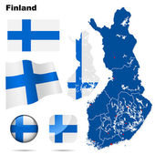 Finland vector set. — Stockvector