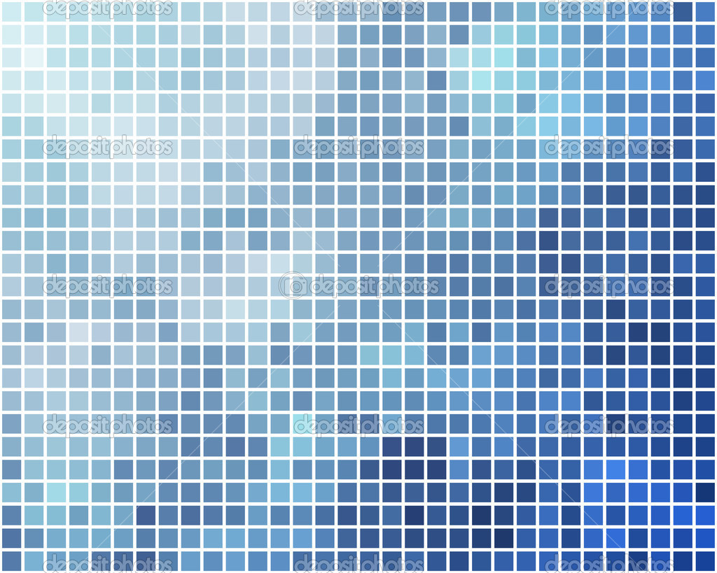 Blue and cyan square mosaic vector background. — Stock Vector #12106980