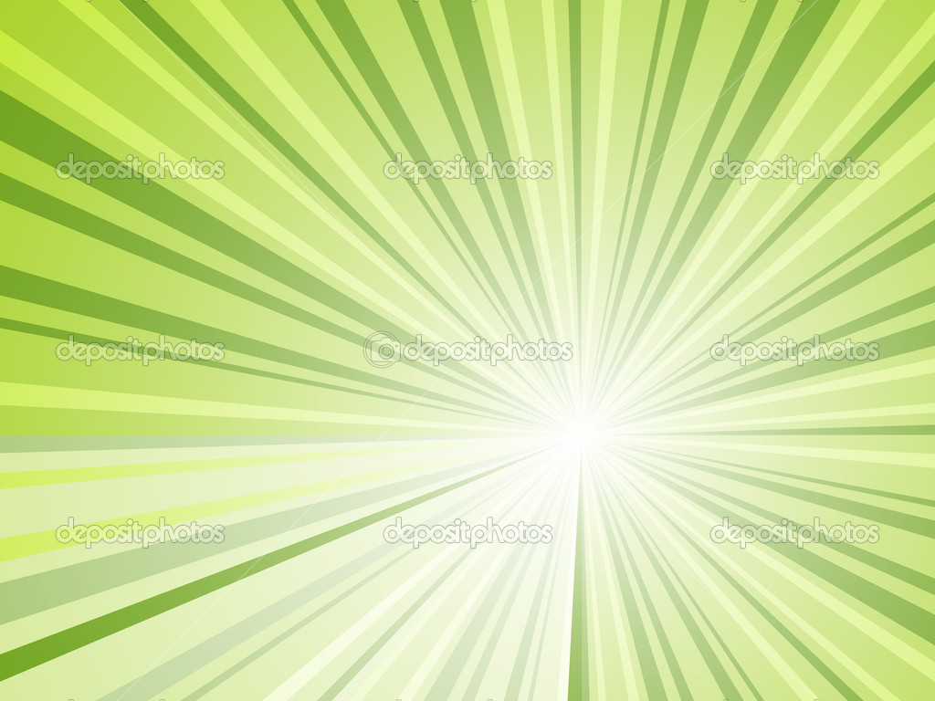 Abstract green rays horizontal vector background — Stock Vector #12256638