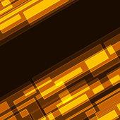 Abstract diagonal orange rectangles — Stock Vector