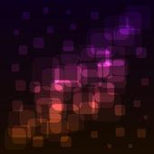 Luci colorate piazze arrotondati astratta — Vettoriale Stock