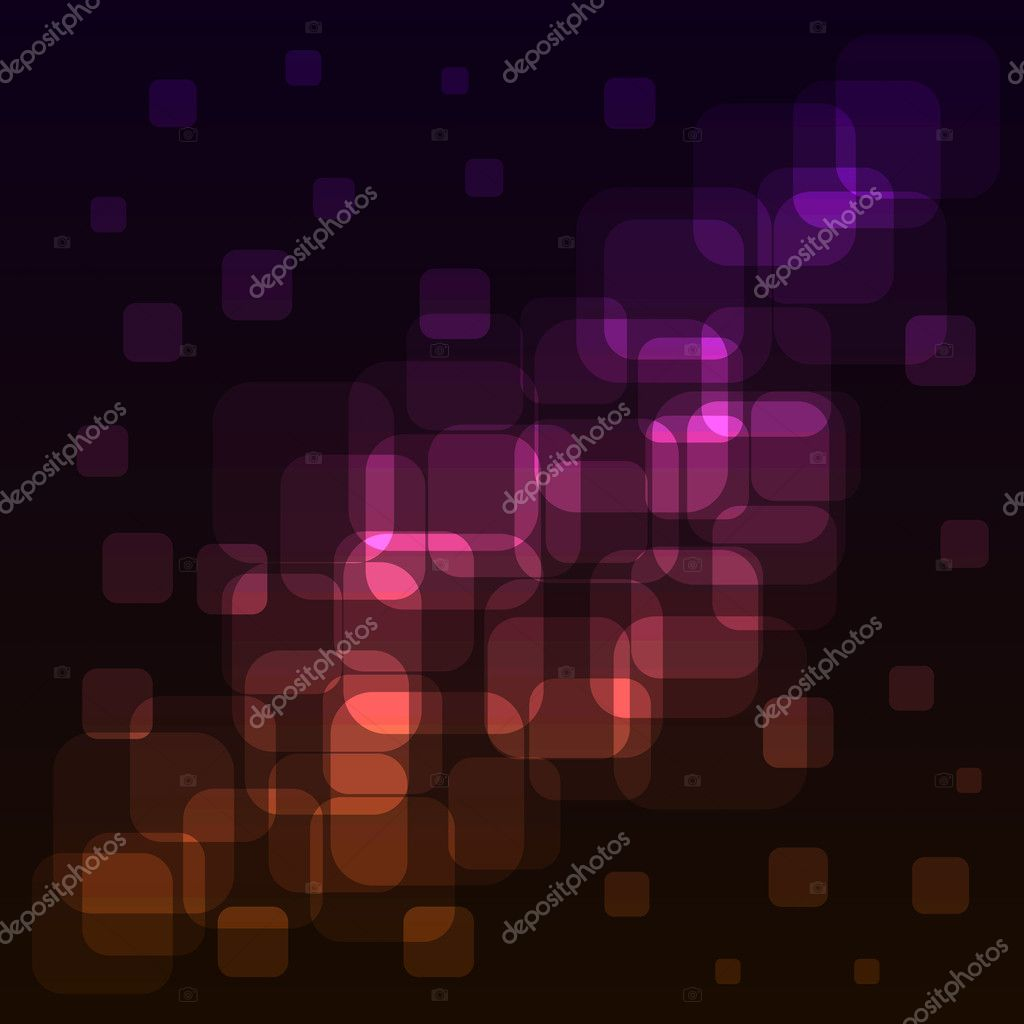 Abstract rounded squares colorful lights background.  — Stock Vector #12325700