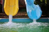 Aquapark cursori — Foto Stock