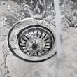 Water in sink — Stock Photo