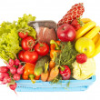 Basket with fruits and vegetables — Foto de Stock