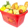 Basket with food — Foto de Stock