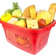 Basket with food — Stockfoto