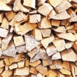 Stock Photo: Pile of chopped fire wood
