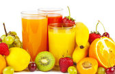 Fruits and juices — Stock Photo