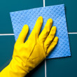 Stock Photo: Hand with sponge