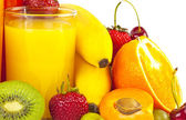 Juices and fruits — Stock Photo