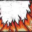 Fire background .Vector grunge image for design on white — Stock Photo