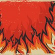 Fire background .Vector grunge image for design — Stock Photo