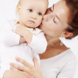mutter  mit  baby — Stockfoto