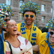 Football fans - Swedes — Stock Photo