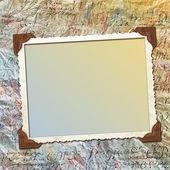 Conception papier grunge pour plus d'informations dans le style de scrap-réservation — Photo