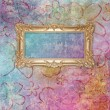 Retro background with decorative frame - Stock Photo