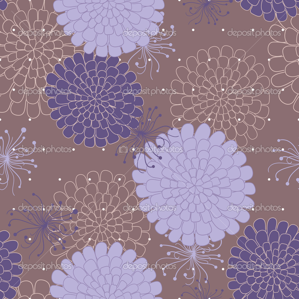 Seamless pattern with flowers. Vector illustration — Stock Vector #11090457