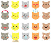 Set of emotions cat — Stock Vector