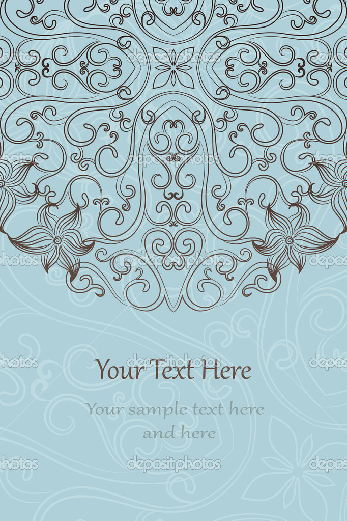 Elegant invitation cards. Vector illustration — Stock Vector #11313770