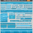 Blue web design elements set — Vector de stock