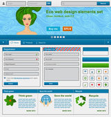 Eco web design elements set — Stock Vector