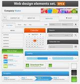 Conjunto de elementos de diseño web — Vector de stock