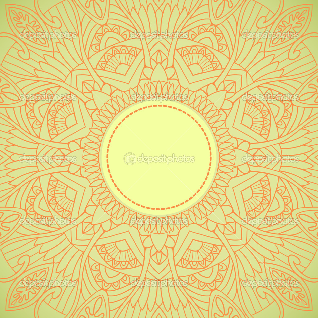 Ornamental round lace in ethnic style. Vector illustration  Stock Vector #12068924