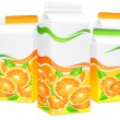 Royalty-Free Stock ベクターイメージ: Packages for orange juice