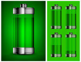 Energy battery in green — Stock Vector