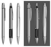 Gray pens — Stock Vector